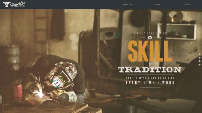 knucklesindustries.com Typography based website design