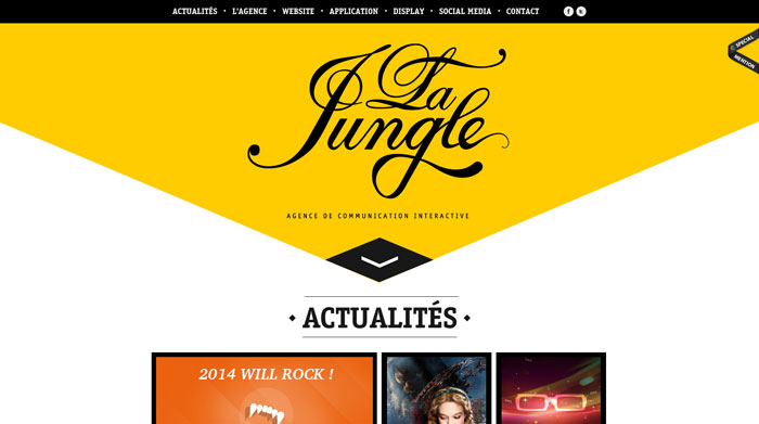 lajungle.fr Typography based website design