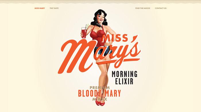 missmarysmix.com Typography based website design