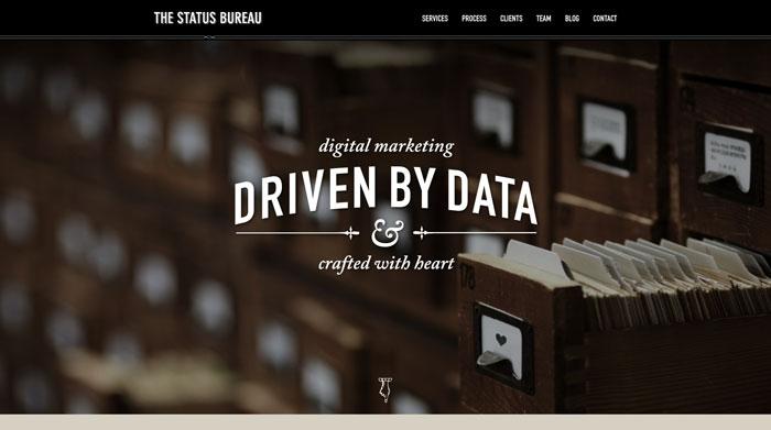 statusbureau.com Typography based website design