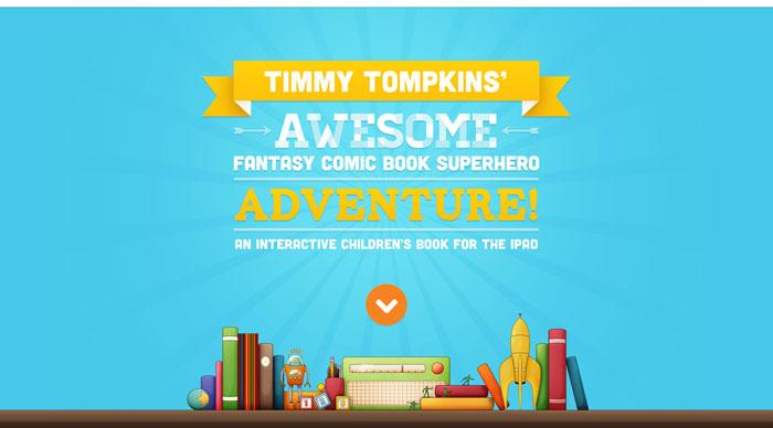 timmytompkinsapp.com Typography based website design