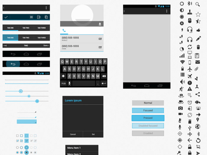 Android UI XHDPI Template (.sketch )