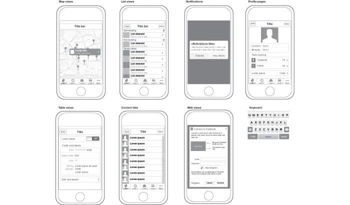 Illustrator template for iPhone design