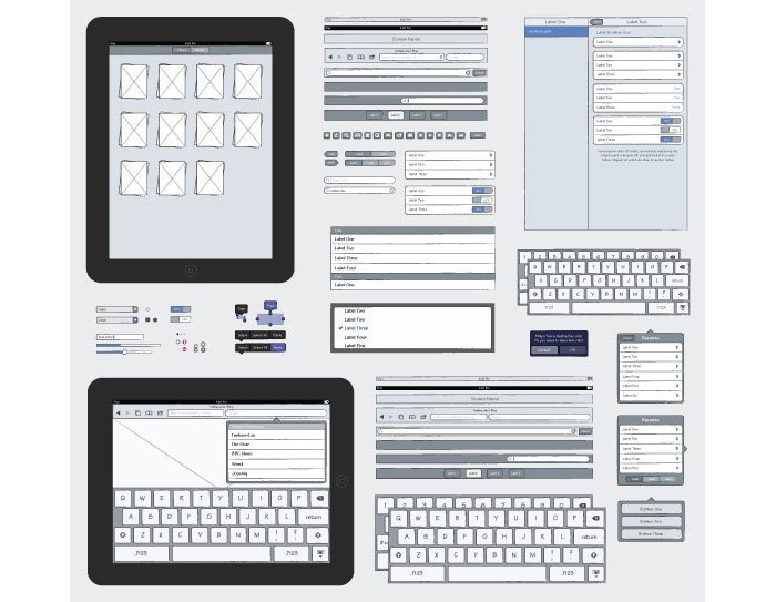 ipad sketch elements ai selected wireframes templates that are free - Ipad App Wireframe
