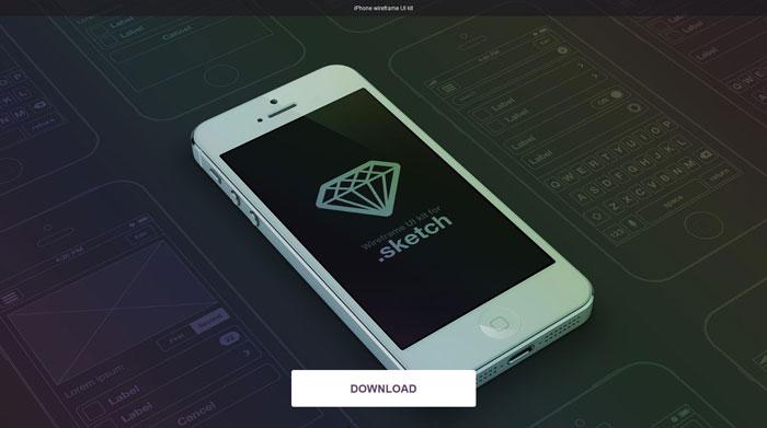 iPhone wireframe UI kit