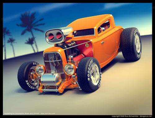 1932 Ford Car Toon 3D model
