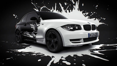 BMW White splash 3D model