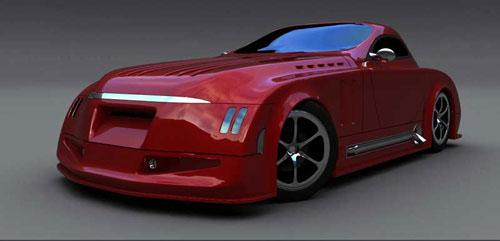 BRUTE Retro 50's car 3D model