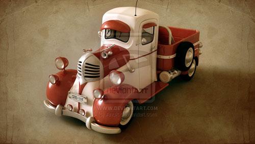 Old car 3D model-سلام چه خبر