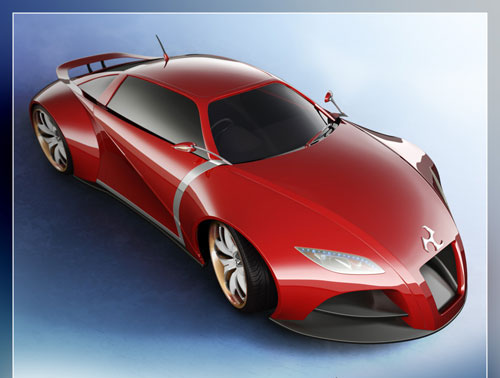 Concept Car V2 3D model