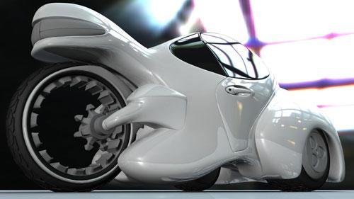 White Concept Car 3D model