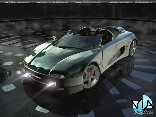 Concept car 2002 3D model