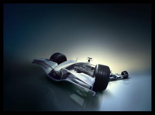 F1 Car Ad 3D model