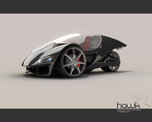 Hawk car 3D model