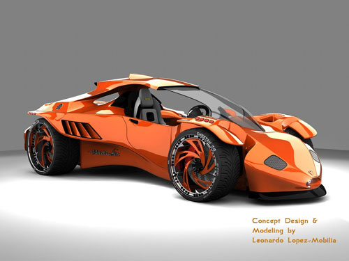 Mantiz Concept Car 3D model