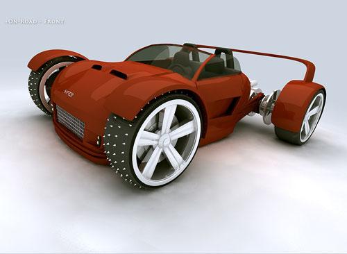OverRider ATV Concept 3D model