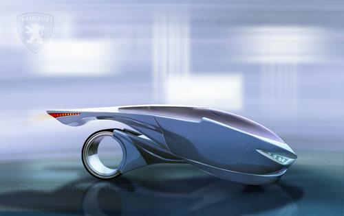 Peugeot 69 Concept Car render 3D model