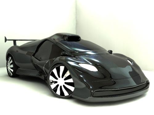 Dark concept car 3D model