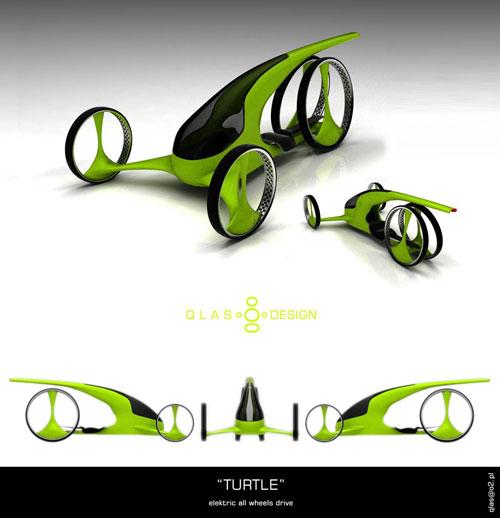 concept car turtle 3D model