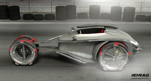 drag car 3D model