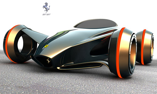 ferrari future car design 3D model