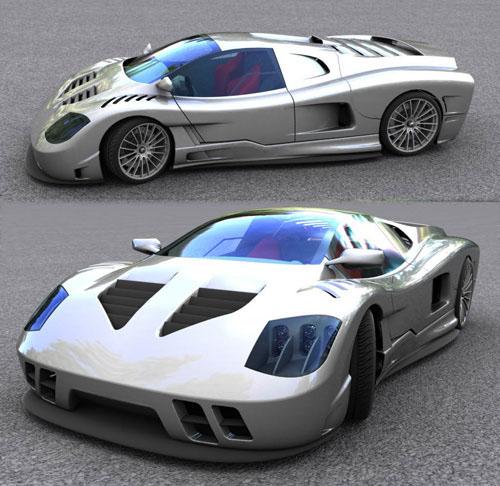 gtr car final renders 3D model