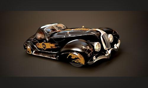 wallpapers for desktop 3d cars. vintage car 3D model