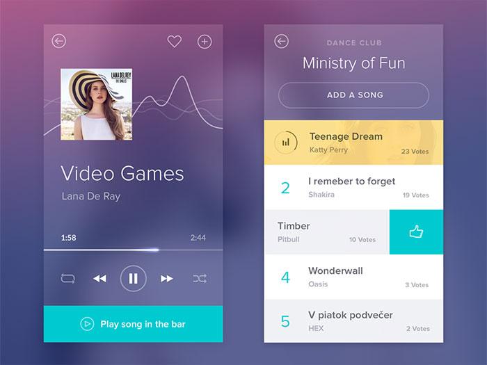 UI Design Showcase - Audio Players