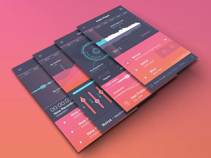 Ui Design Showcase Audio Players
