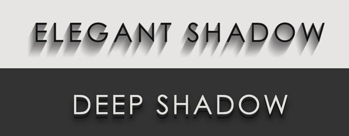 CSS3 text-shadow effects