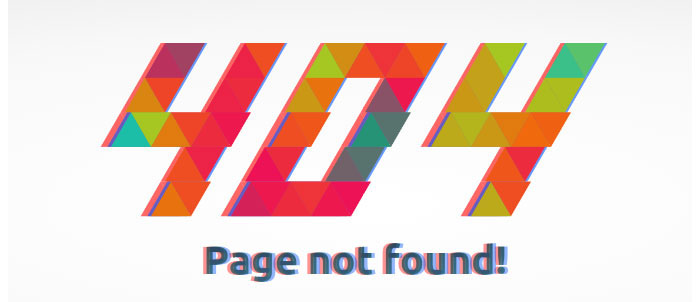 Colorful Glitchy 404