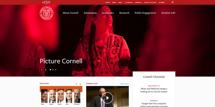 cornell_edu Great school website design: 51 Academic websites