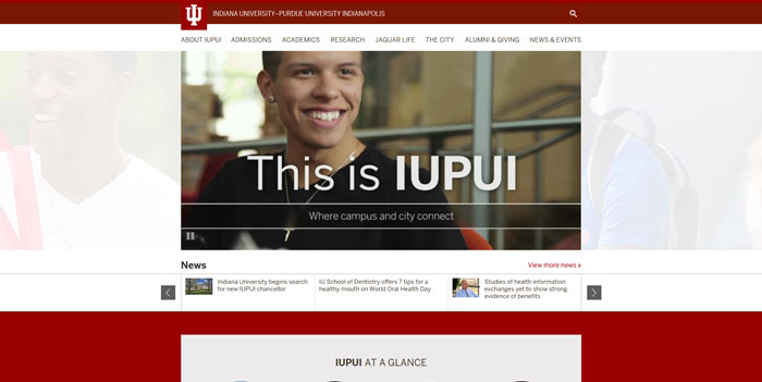 iupui_edu Great school website design: 51 Academic websites