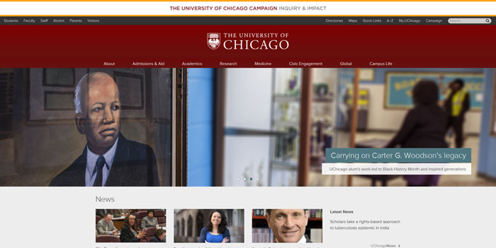 uchicago_edu Great school website design: 51 Academic websites