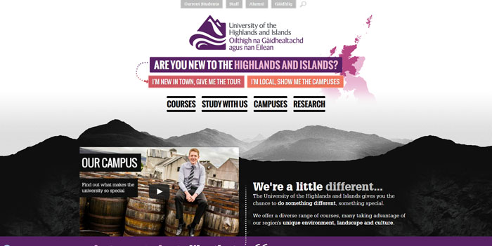 uhi_ac_uk_en Great school website design: 51 Academic websites