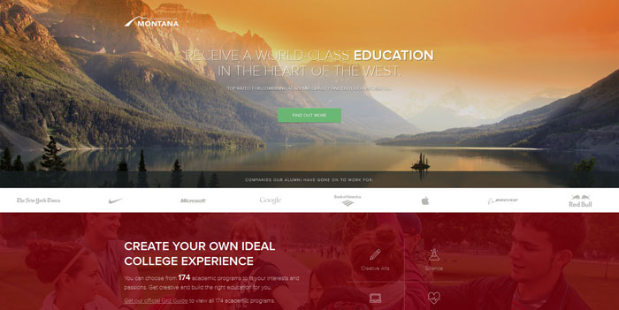 umt_edu_why Great school website design: 51 Academic websites