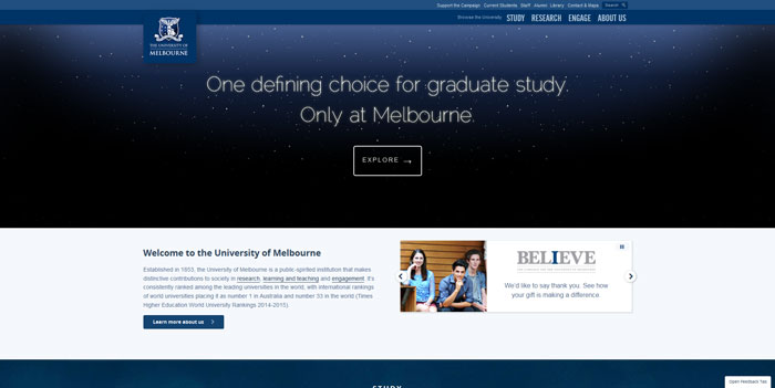 unimelb_edu_au Great school website design: 51 Academic websites