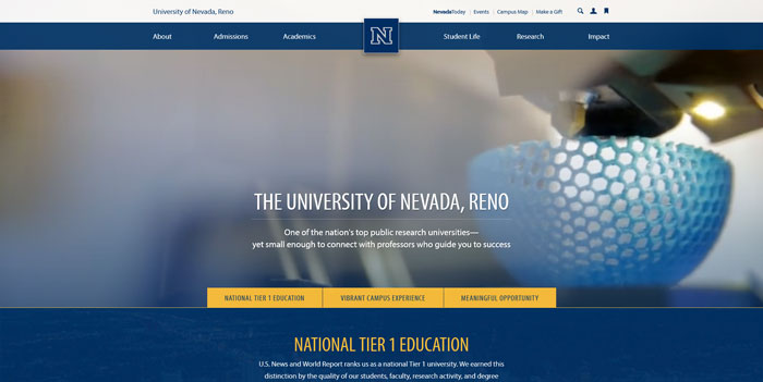 unr_edu Great school website design: 51 Academic websites