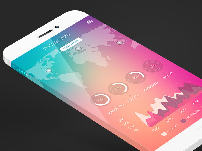 Stats iOS 7 style User Interface Inspiration