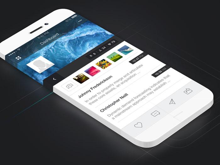 iOS App Dashboard Design User Interface Inspiration