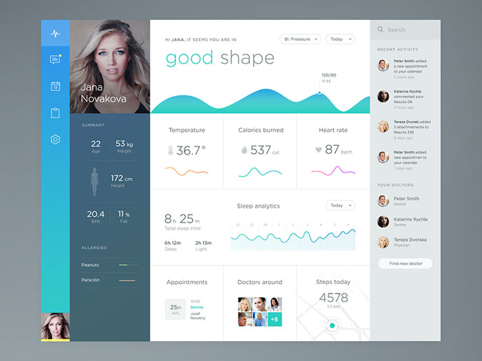 Health app User Interface Inspiration