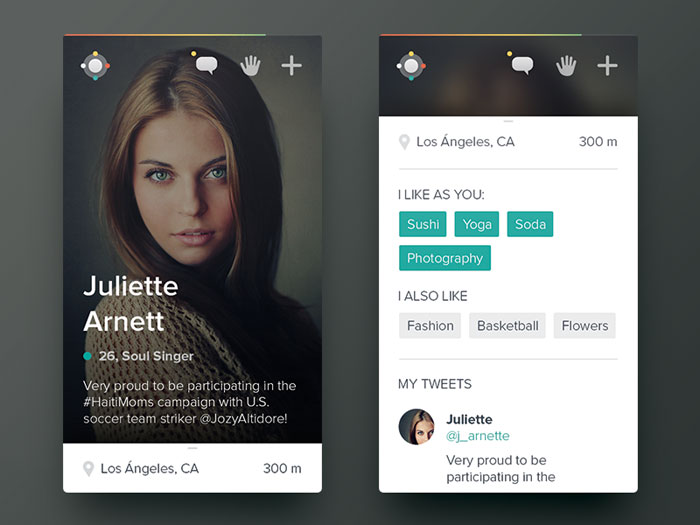 Date app User Interface Inspiration