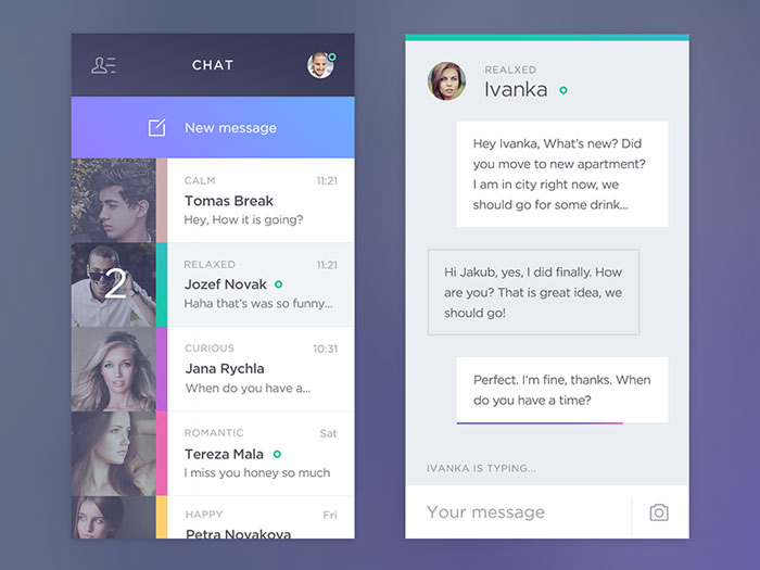 Chat app User Interface Inspiration
