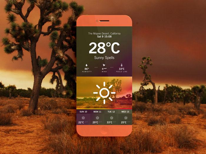 Weather App // Desert User Interface Inspiration