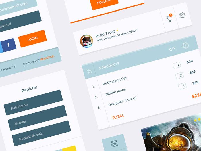 Designer-naut UI KIT Free