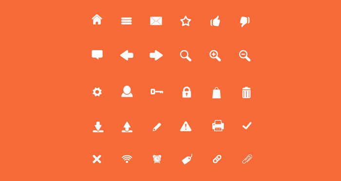 Freebie: The Web Designer Icon Set Containing 30 Icons In PSD, SVG, PNG And Icon Font 1