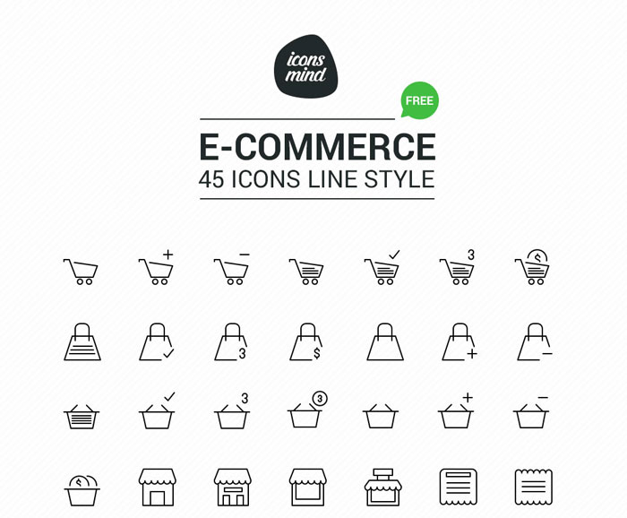 Free icon packs for web designers free 45 ecommerce icons free icon packs for web designers altavistaventures Images