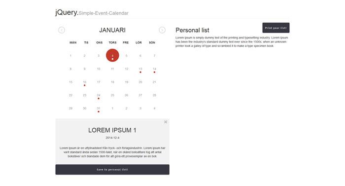 Calendar Design Using Jquery : Top notch jquery plugins to use in