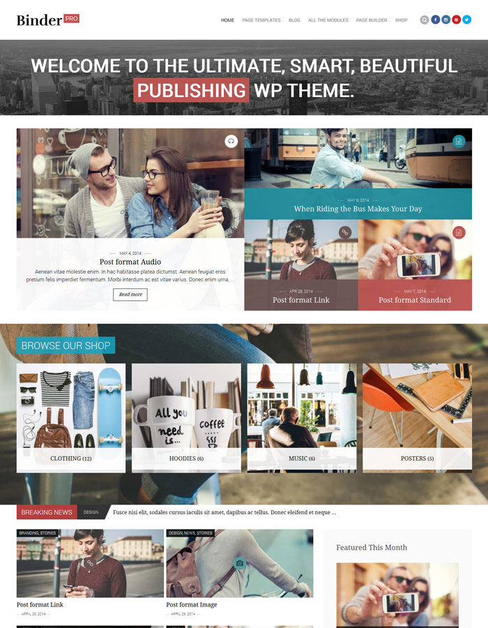 Website Magazine Style Layouts For Inspiration