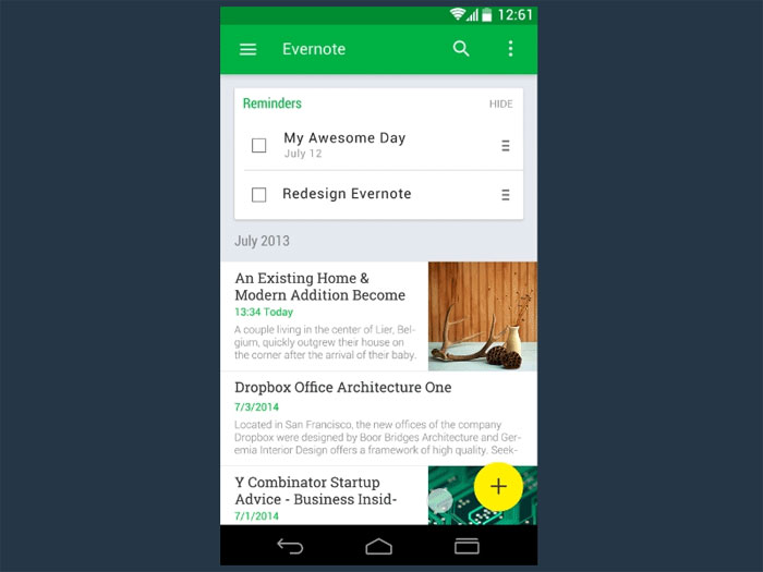 Material Design Inspiration Android Apps Using Material Design